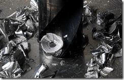 HSS_Twist_Drill_into_Aluminium_with_Lubricant