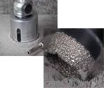 Lochsägen für abrasive Materialien