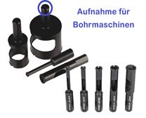 Favorit Fliesen Bohren mit der Bohrmaschine - Diamant LochsägeSaegeblatt YG28