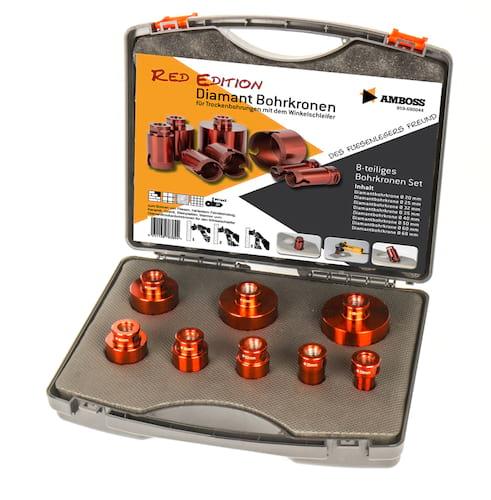 Diamant Bohrkronen Set von Amboss Werkzeuge. Schwierigste Materialien wie Feinsteinzeug oder Granit bearbeiten.